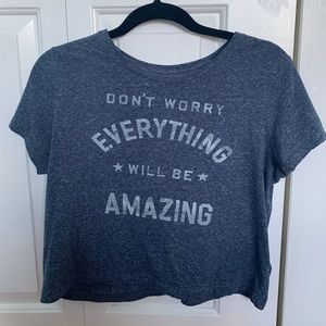 Aeropostale cropped graphic tee